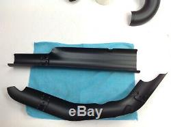 09-16Harley Street Glide Exhaust Header Pipes Heat Shields Ceramic Coat Cerakote