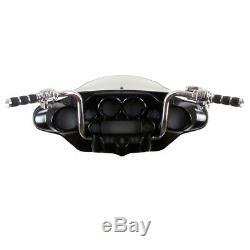 1 1/4 Chrome 14 Ape Hanger Bar Kit 2008-2013 Harley Electra Street Glide withABS
