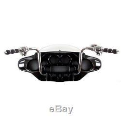 1 1/4 Chrome 16 Ape Hanger Handlebar Kit 1996-2006 Harley Electra Street Glide