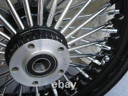 16 Black Fat 48 Spoke Rear Wheel Harley Flt Road Street Glide Touring 2008 Only