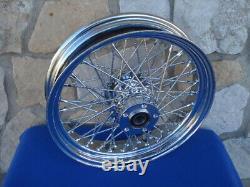 16x 3.5 60 Spoke Billet Hub Wheel Rear Harley Touring Street Glide 2002-07