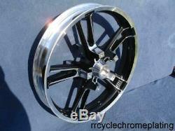 21 Enforcer Reinforcer Front Wheel Black Cut Touring 08-19 Street Glide Harley