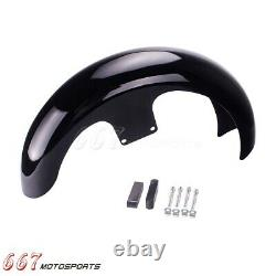 21 Wheel Front Fender Kit For Harley Touring Electra Street Road Glide Baggers
