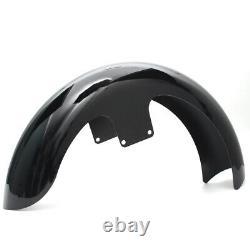 21Wrap Vivid Black Front Fender For Harley Touring Electra Street Glide Bagger