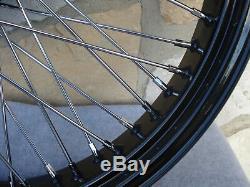 21x3.5 60 Spoke Black Front Wheel Harley Road King Street Glide Touring 08-19