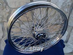 23 X 3 60 Spoke Chrome Front Wheel 08-up Harley Road King Street Glide Touring