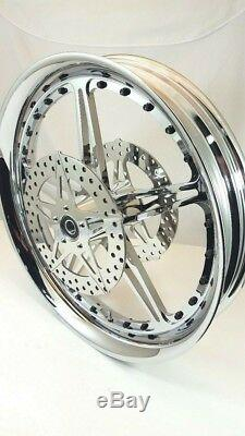 23 x 3.75 HARLEY DAVIDSON STREET GLIDE HOLLYWOOD BOLT WHEEL ABS With ROTORS