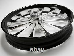 3D Black 21X3.5 Billet USA Wheel Harley-Davidson Street Glide
