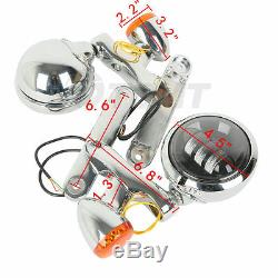 4.5 Auxiliary Fog Light Bracket Turn Signal For Harley Electra Street Glide USA