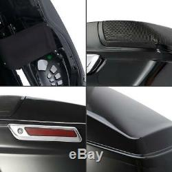 4 CVO Stretched Extended Hard Saddlebags For Harley Touring Street Glide 14-19