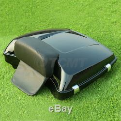 5.5 Razor Tour Pak Pack Trunk with Backrest For Harley Touring Road Street Glide