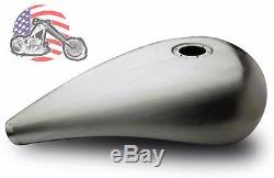 5 Custom Stretched Pro-Street Chopper Bobber Gas Fuel Tank Harley Bolt In Cap