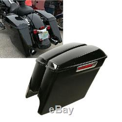 5 Stretched Saddle Bags Saddlebags For Harley Street Road Glide 2014-2020 2019