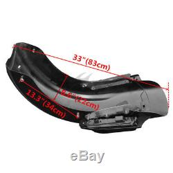 5 Stretched Saddlebags & CVO Rear Fender For Harley Street Road Glide 2014-2018