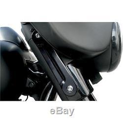 Alloy Art Street Glide Front Billet LED Turn Signals For Harley Davidson Black