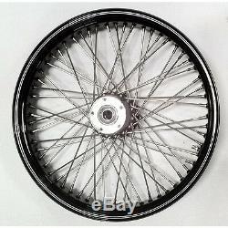 Black 60 Spoke 21 Wheel Front 21 X 3.5 Harley Flhx Street Glide Flhxs 08-16