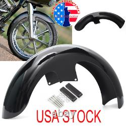 Black Painted 21Wheel Front Fender For Harley Touring Electra Street Road Glide