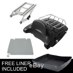 Chopped Tour Pak Pack Trunk For Harley Davidson Touring Street Road Glide 14-18