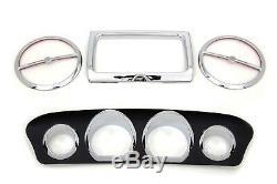 Chrome Black Inner Fairing Dash Trim Kit Harley FLHT FLHX Electra & Street Glide