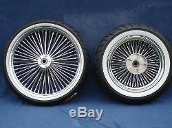 Chrome DNA Mammoth 52 Spoke Rim Wheels Tires Harley Touring Street Glide 09-19