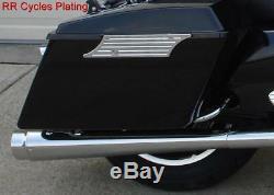 Chrome DNA Megaphone Style Slip Ons Mufflers Harley Touring'95-'16 Street Glide