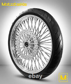 FAT SPOKE WHEEL 21X3.5 52 SPOKES FOR HARLEY DYNA STREET BOB With ROTOR With TIRE