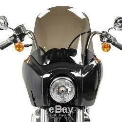 Fairing MG5 for Harley Dyna Low Rider, Street Bob black- light smoke