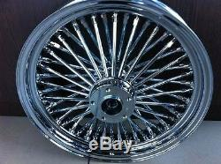 Fat Spoke 16 Front Wheel Chrome 16 X 3.5 Harley Fltr Road Glide Street Glide
