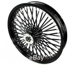 Fat Spoke 21 Black Front Wheel Harley Electra Glide Road King Street 2000-2007