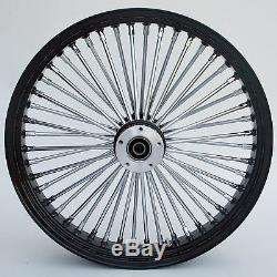Fat Spoke 23 Big Wheel Front Black Harley Electra Glide Road King Street 00-07