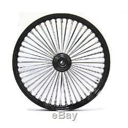 Fat Spoke 26 Big Wheel Front Black 26 X 3.5 Harley Flhx Street Glide 2006 2007