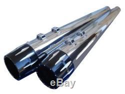For Harley Street Glide Flhx Tri Glide 95-16 Megaphone 4 Slip-on Mufflers