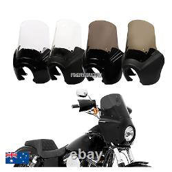 Front Fairing 15'' Windshield Deflectors Harley Dyna Fat Street Bob Wide Glide