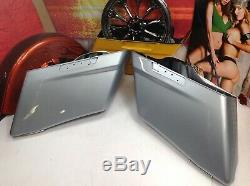 Genuine 14-19 OEM Harley Touring Road Glide Street Extended Stretched Saddlebags