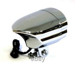 Glow Style Streetfighter Custom Harley Billet Alu Scheinwerfer Chrom