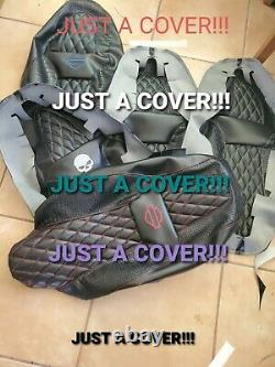 HARLEY Street Glide Seat Cover P52320-11 OffWhite Stitching 2008-2018 COVER ONLY