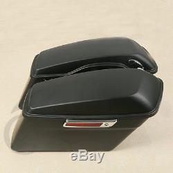 Hard Saddle Bags Latch keys Lid For Harley Electra Road King Street Glide 14-18