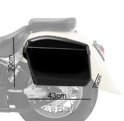 Hard saddlebags CNV for Harley Dyna Fat Bob/Low Rider/S/ Street Bob/Super Glide