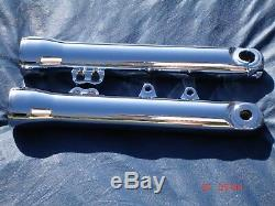 Harley Chrome Fork Sliders Legs Dyna Fit 06-13, FXDB Street BoB, Exchange Only FXD
