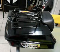 Harley Davidson Black Road street glide OEM Tour Pack Pak Trunk 14-20 2014 FLHX