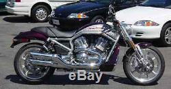 Harley Davidson Night Rod/Street Rod Slash Cut Exhaust Pipes BAFFLED (111-1222)