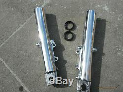 Harley Davidson STREET GLIDE Lower Fork Tube Sliders Legs 2000-2013 POLISHED