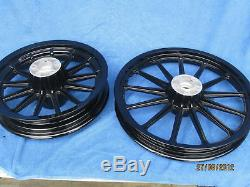 Harley Dyna Mag FXD Street Bobs all Black Wheels & Bearings Front & Rear
