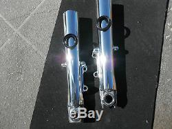 Harley Polished Lower Legs Fork Slider Shocks Covers Touring Bagger Road Street
