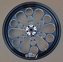 Kool Kat Front Black Wheel 21 Harley Street Glide Flhx Electra Flhtc Ultra