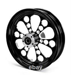 Kool Kat Rear Black Wheel 16 X 3.5 Harley Electra Glide Road King Street 02-07