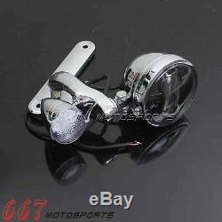 LED Auxiliary Fog Light Bracket Turn Signal For Harley Electra Street Glide 94+
