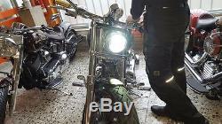 LED SCHEINWERFER 5,75 Harley Davidson FXDB Street Bob mit E Prüfung CHROME