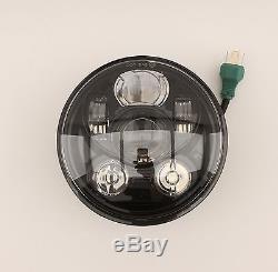LED Scheinwerfer 5,75 Zoll E-geprüft Harley Davidson Dyna Softail Sportster