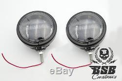 LED Zusatzscheinwerfer Set Touring FLHX Street Glide 06 Harley Davidson sw